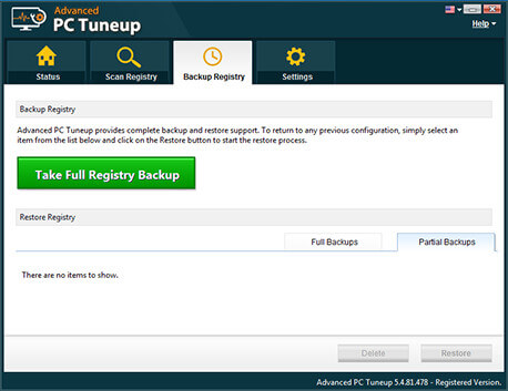 Backup Windows Registry
