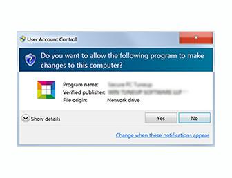 Launch the application setup file.