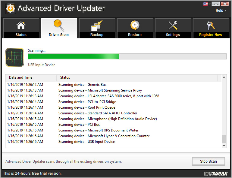 Scanning for Outdated Drivers