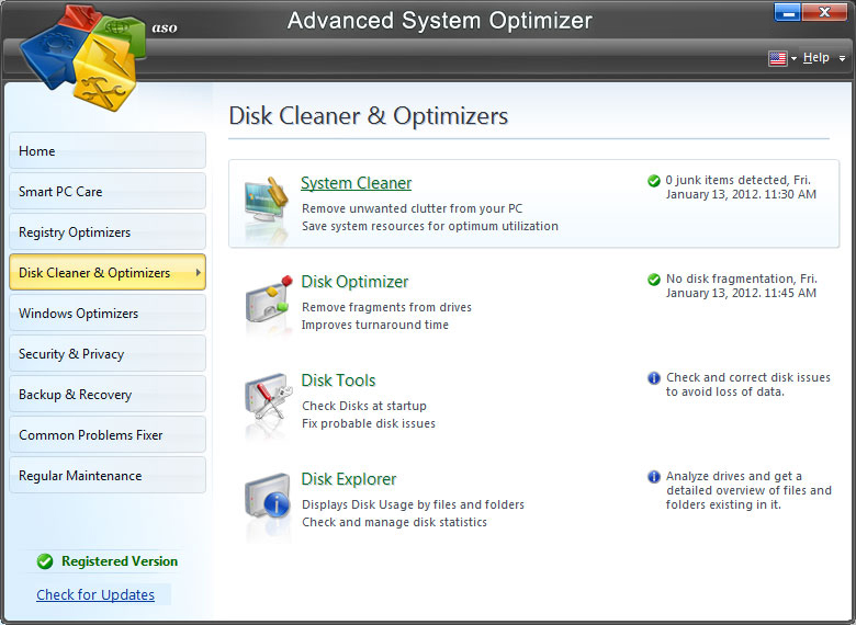 Disk Cleaner & Optimizers