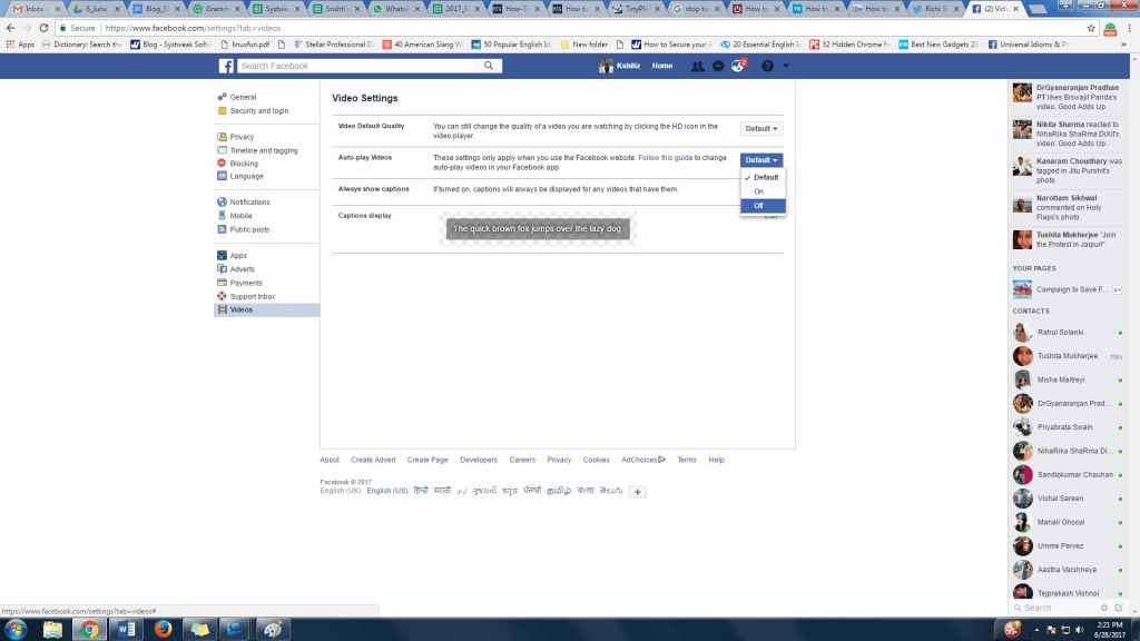 Stop Facebook Videos From Autoplaying