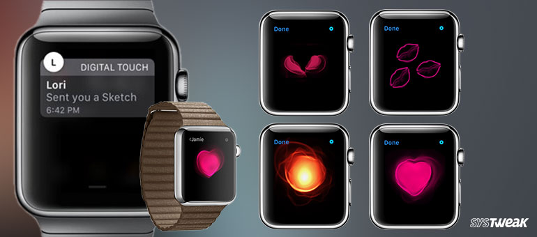 digital touch message in apple watch