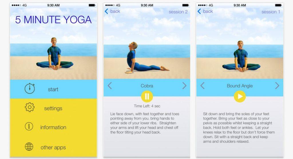 5 min yoga
