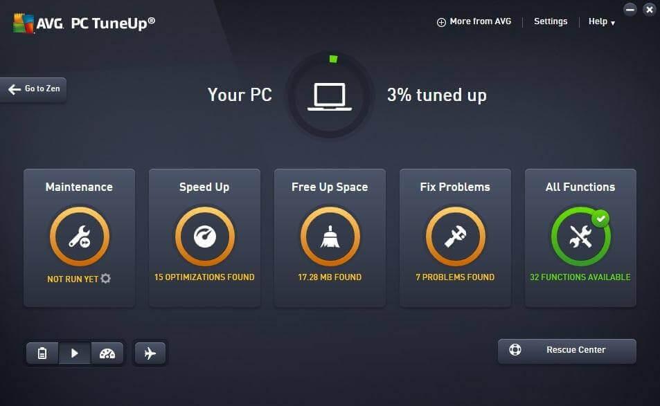 AVG PC TuneUp- best windows optimizer 2017