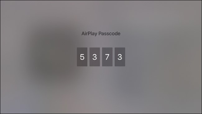 Airplay passcode