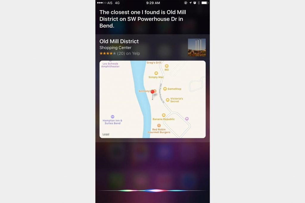 Ask Siri for Directions