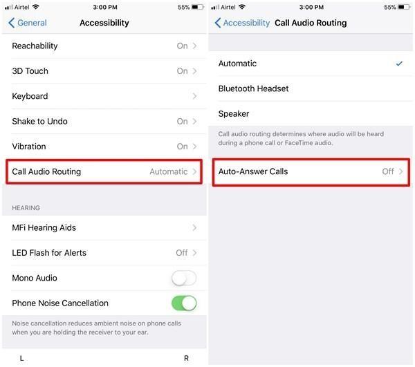 Auto answer calls iPhone