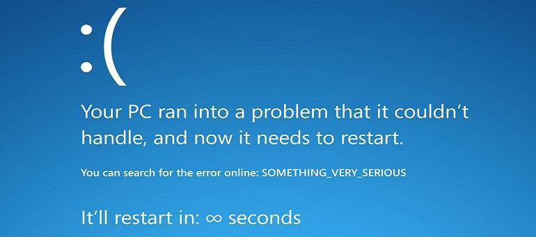 BSOD error screen