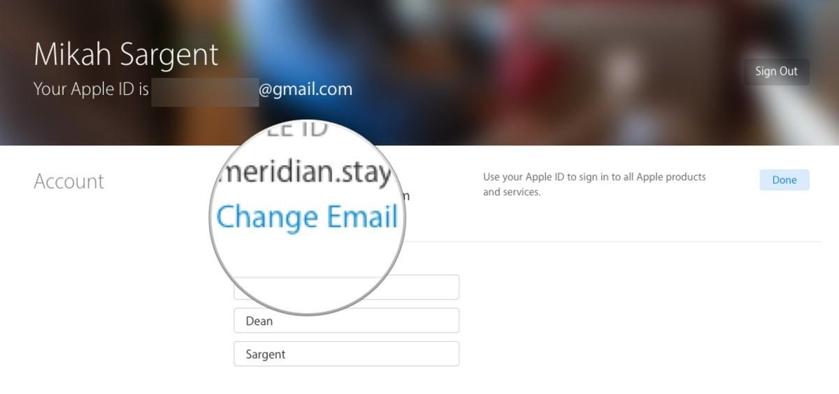 Change Email Address under Apple ID