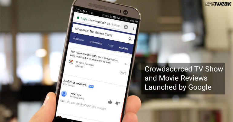 Crowdsourced TV Show and Movie Reviews Launched by Google