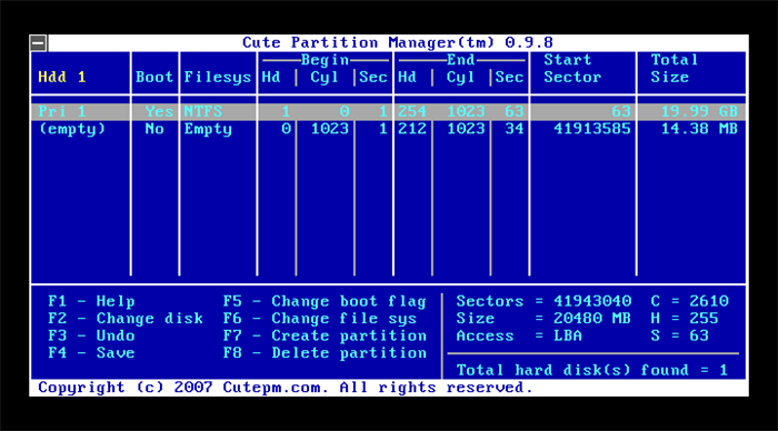 cute-partition-manager