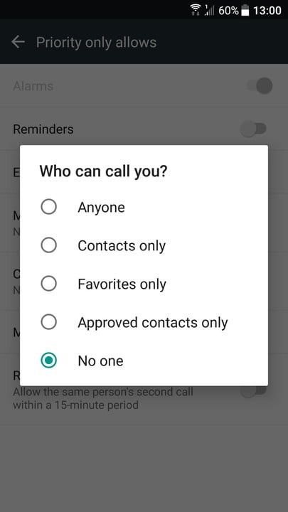 DND who can call you