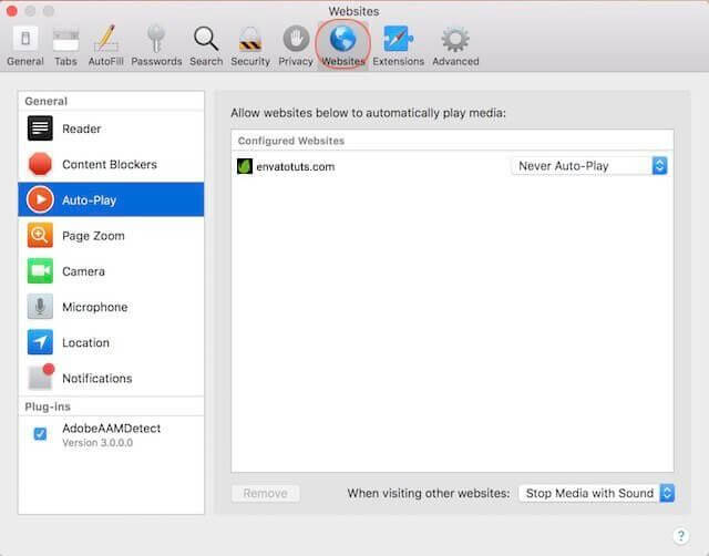 Disable Auto-playing Videos in Safari for All Websites
