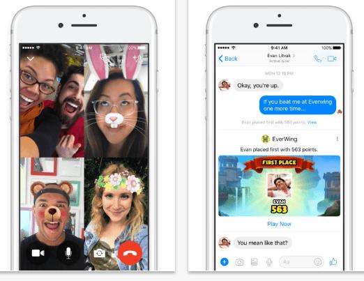 Facebook Messenger- best texting app iphone