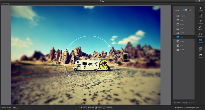 Fotor- best photo editing software