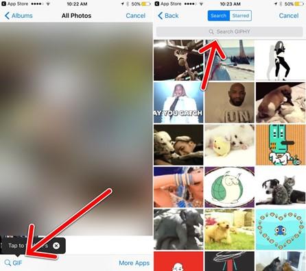 GIF search