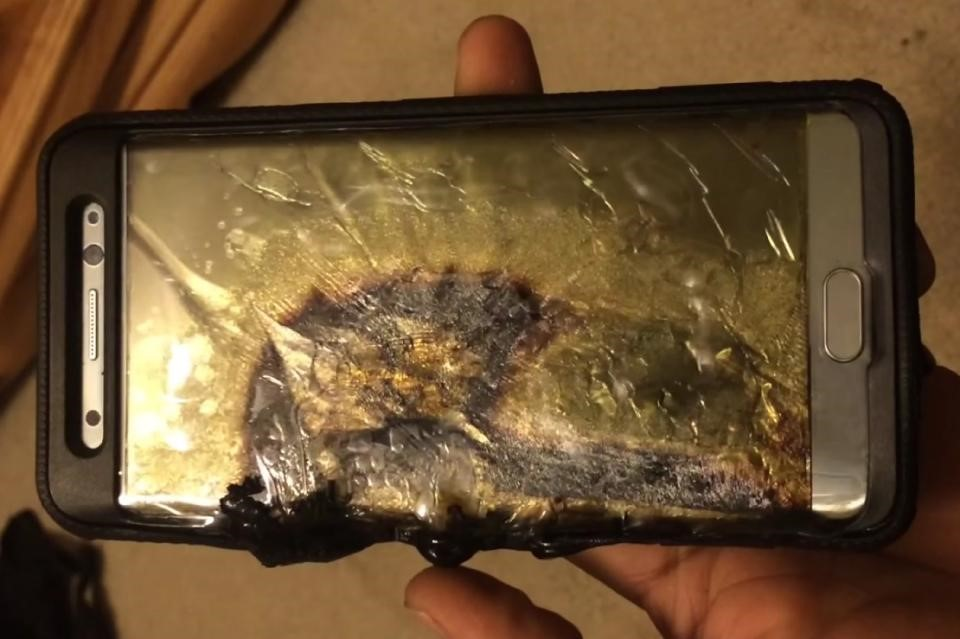 phone exploded