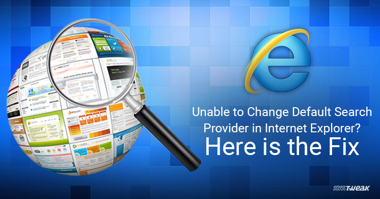 How To Change Default Search Engine In Internet Explorer
