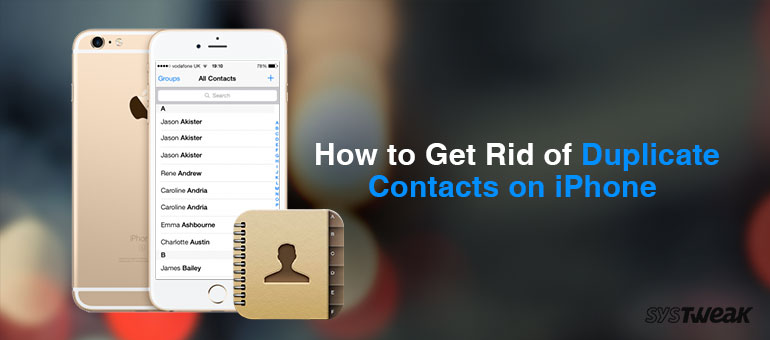 clean duplicate contacts in iPhone 6