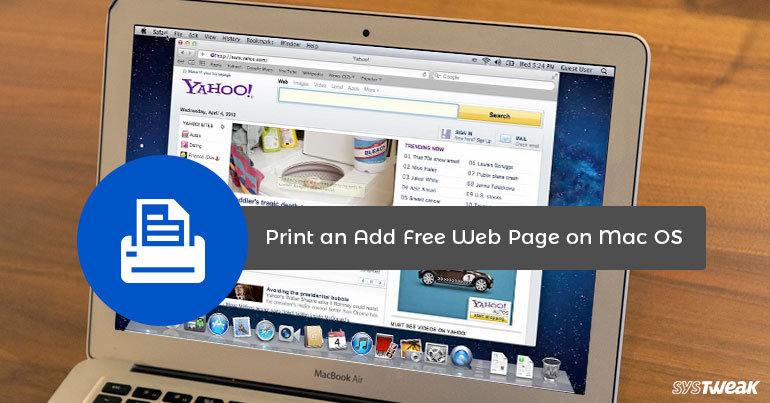 How to Print Web Page Without Ads on Mac OS