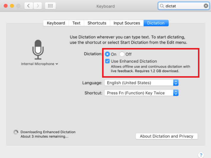 How to Turn on Dictation