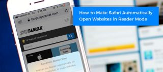 How to make Safari automatically open articles for websites in reader mode