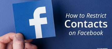How to restrict contacts on facebook