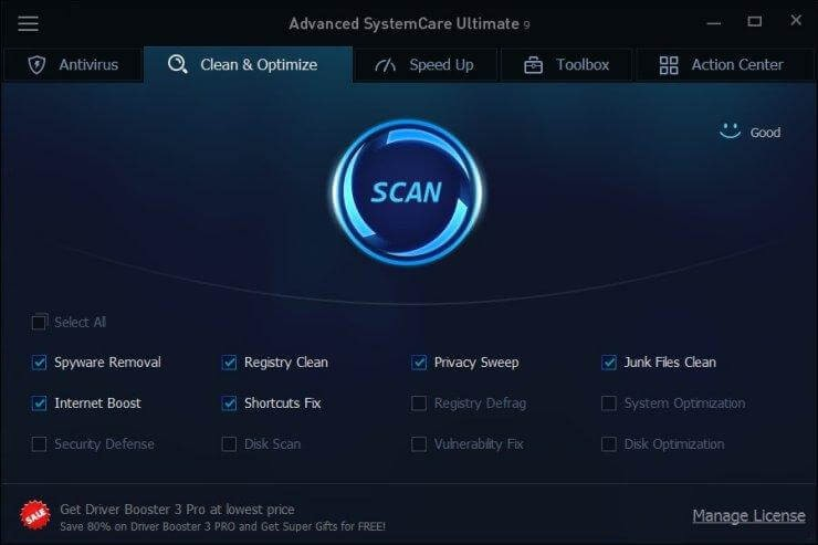 IObit Advanced SystemCare- PC opitmization tool 2017