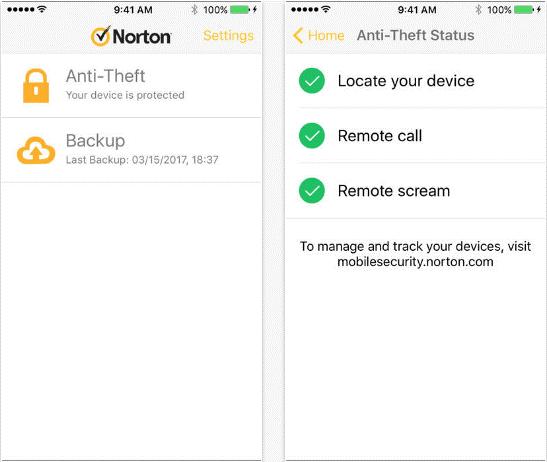 Norton Mobile Security – Lost Phone Finder