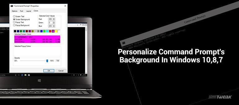 Personalize CMD background