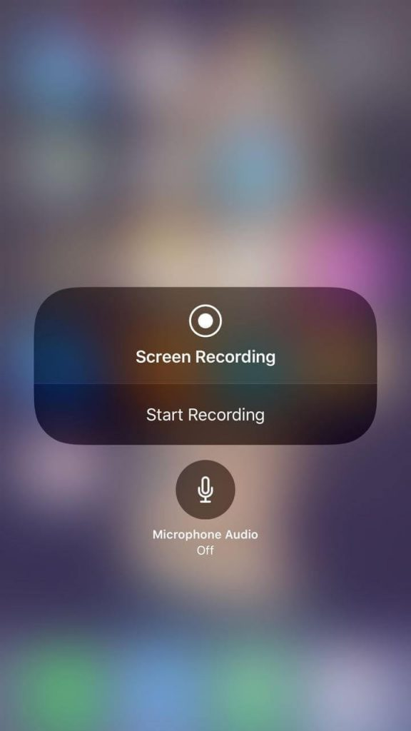 Record Your Screen With Sound in iOS 11 1
