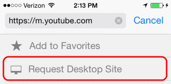 Request Desktop Site