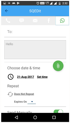 Schedule WhatsApp Messages On Android 5-1