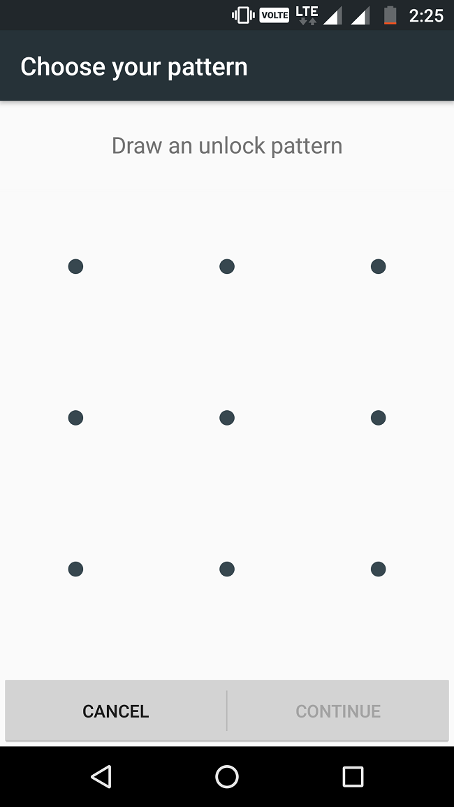 pattern lock in android