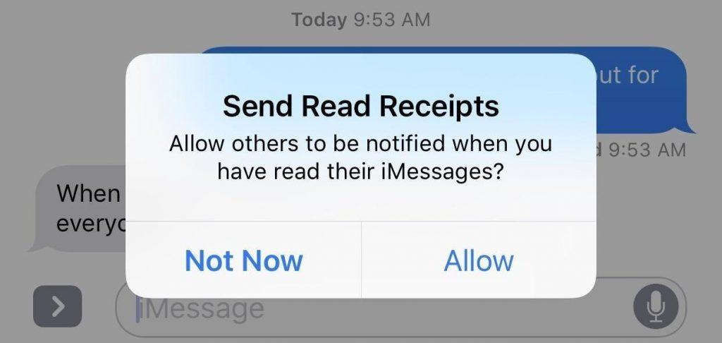 Send Read reciepts