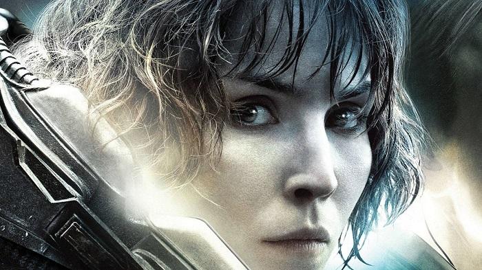 Noomi Rapace as Elizabeth Shaw in Prometheus