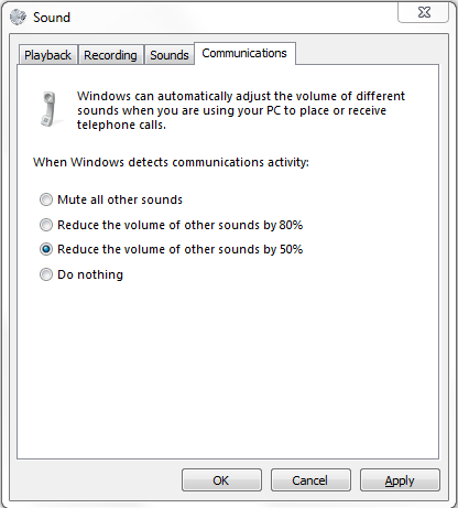Stop Skype from Lowering Your Computer's Volume