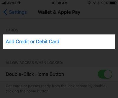 add credit or debit card