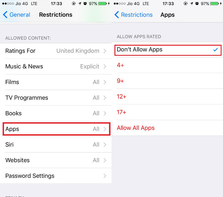 apps hide