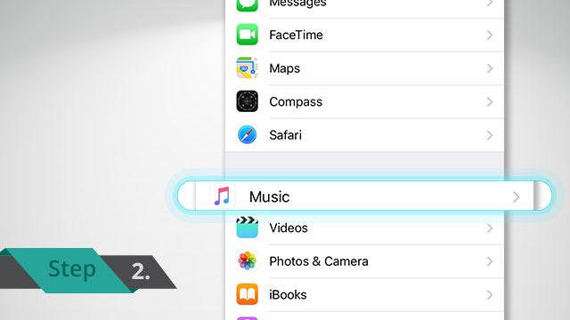 change music audio setting on iPhone