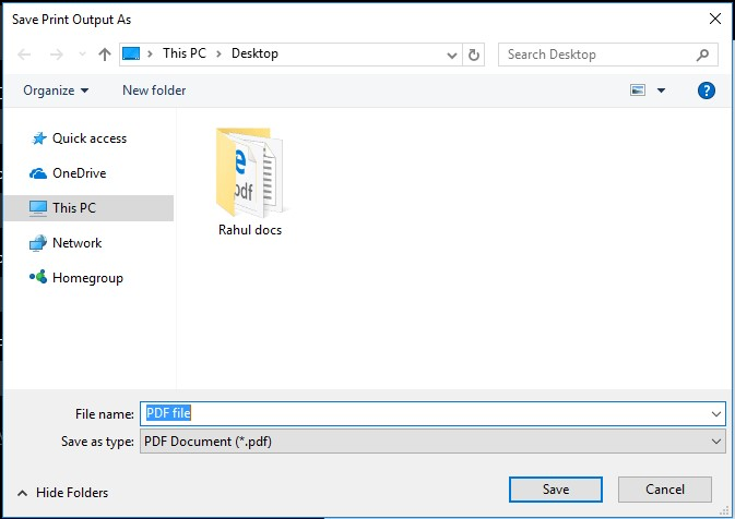 convert an image to PDF step-4