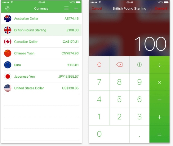 currency App for iOS