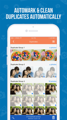 delete duplicate photos on iphone