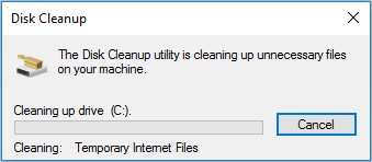 disk clean up c drive scan