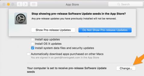 do not show pre release mac app store