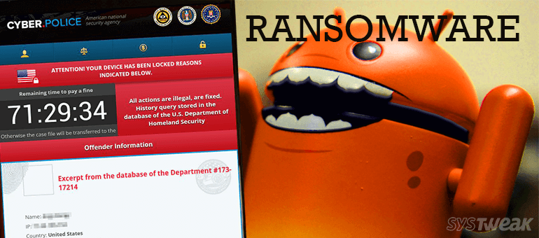 dogspectus ransomware attack on android user