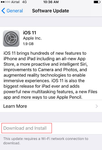 download and install ios 11
