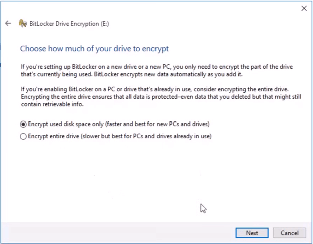 drive encryption