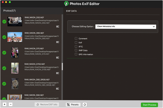 exif metadata editor and remover