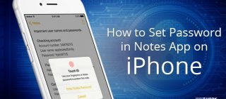 how to set password in notes in iPhone